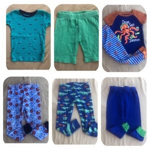 Other - 7 Cotton Pajama Items Boys 3T